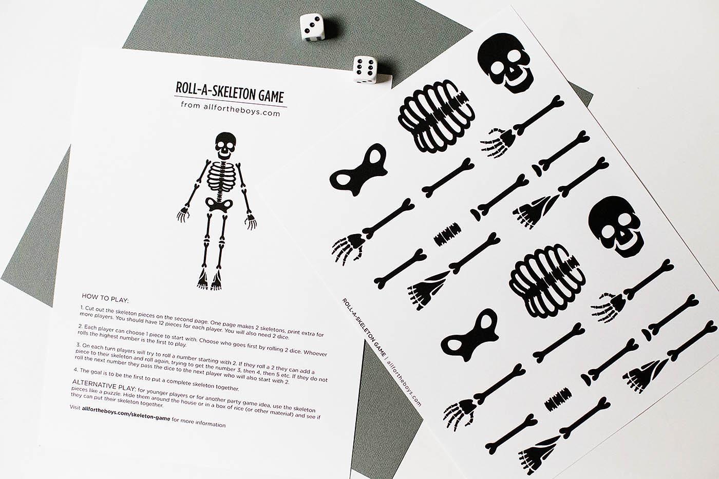 Free Printable Skeleton Game — All For The Boys - Printable Skeleton Puzzle