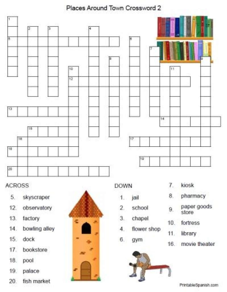 Free Printable Spanish Crossword Puzzles From Printablespanish - Printable Puzzles In Spanish