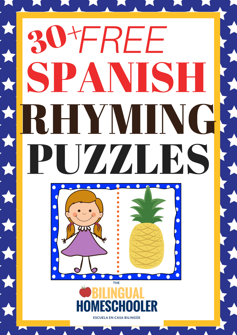 Free Printable Spanish Rhyming Words | Bilingual Mami - Printable Puzzles In Spanish