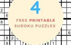 Free Printable Sudoku Puzzles Pdf | Free Printables   Printable Sudoku Puzzles 16X16 Free