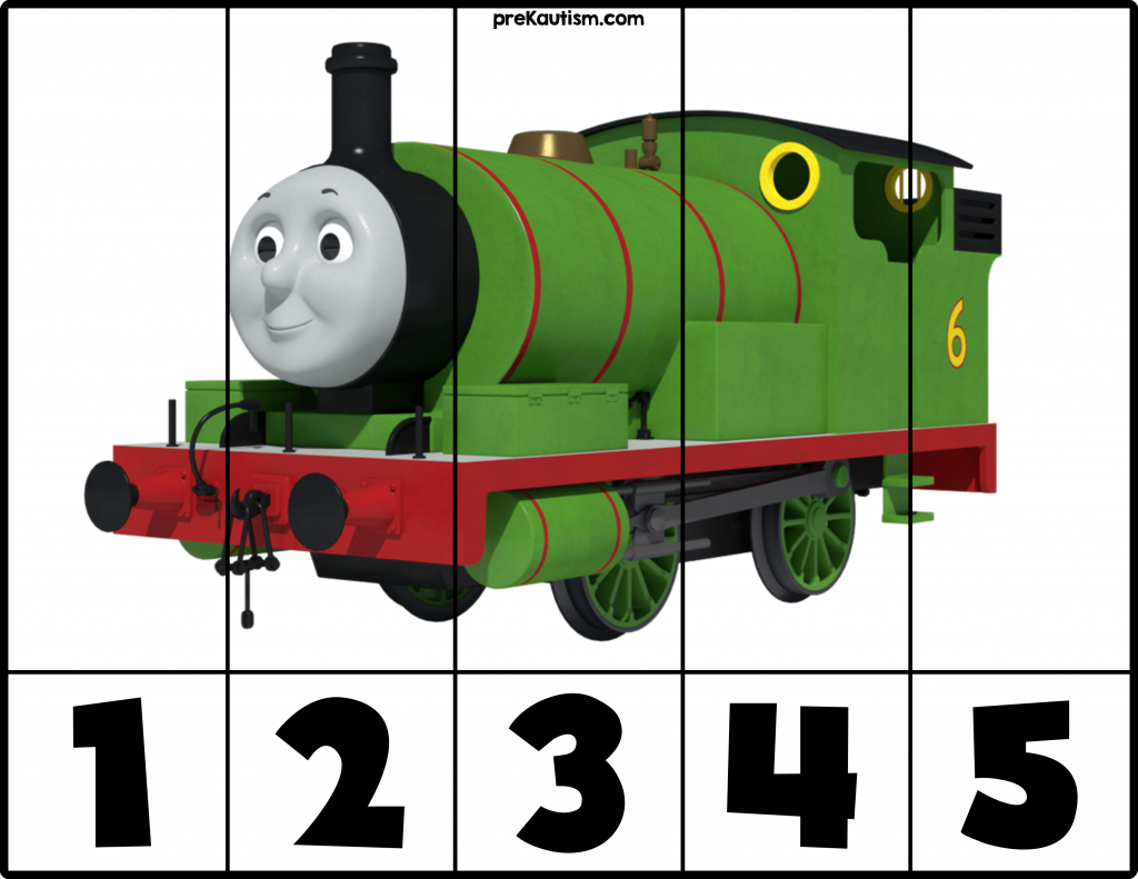 Free! Printable Thomas & Friends Puzzles | Prekautism | Autism - Printable Train Puzzle