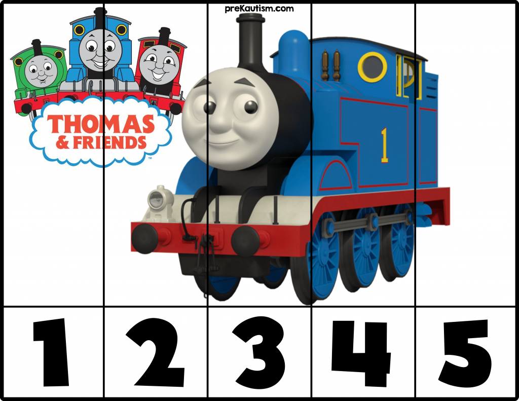 Free! Printable Thomas & Friends Puzzles | Prekautism | Craft - Printable Train Puzzle