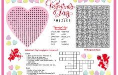 Free Printable Valentine's Day Puzzles   School Stuff   Valentines   Printable Heart Puzzles