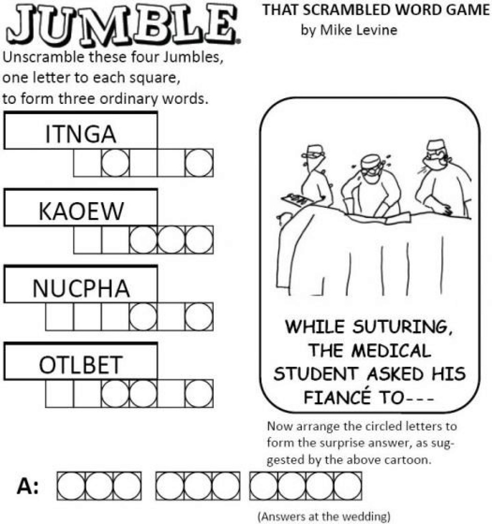 Free Printable Word Jumble Puzzles For Adults Printable Word Jumble - Printable Jumble Puzzles For Adults