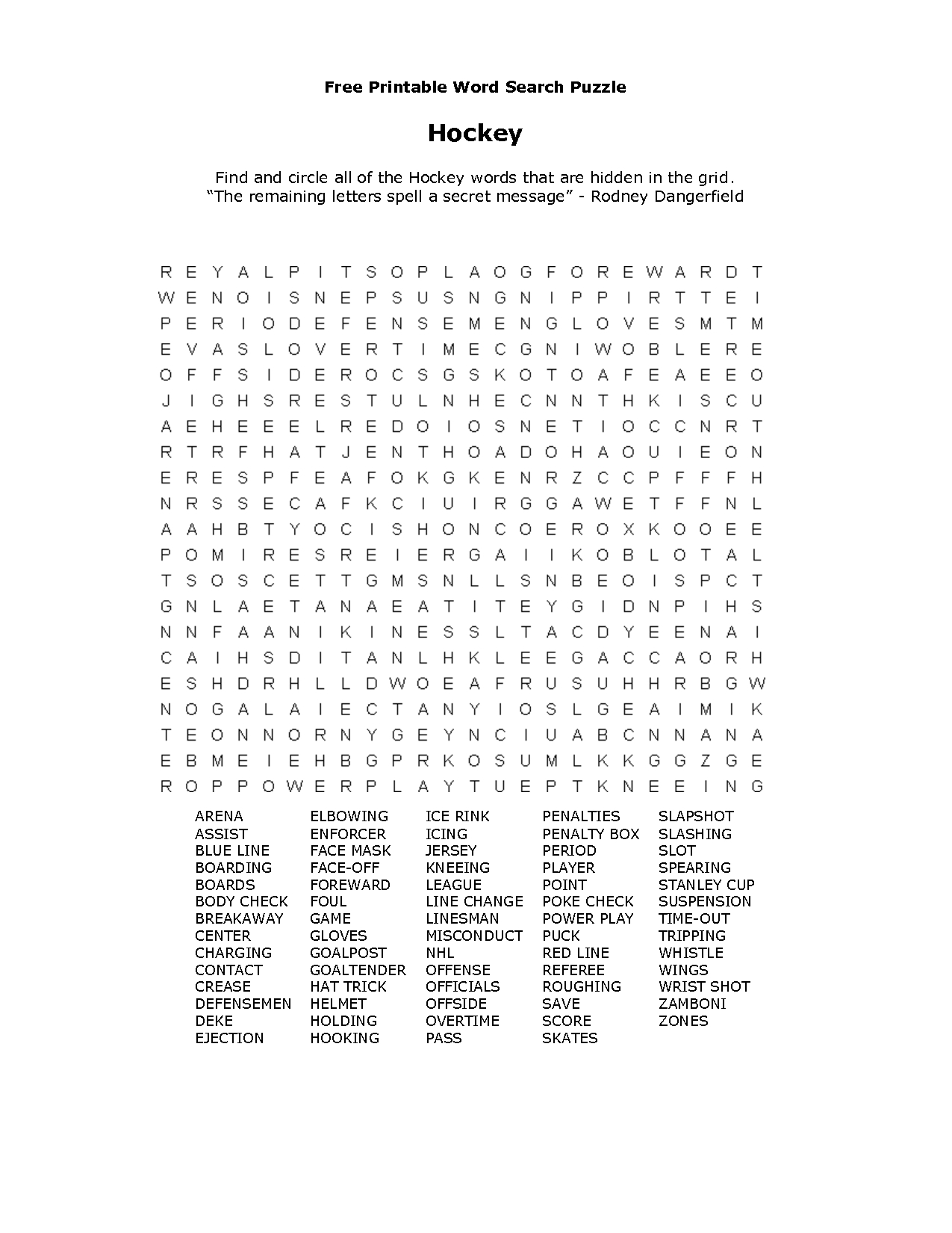 Free Printable Word Searches | طلال | Free Printable Word Searches - Printable Hockey Crossword