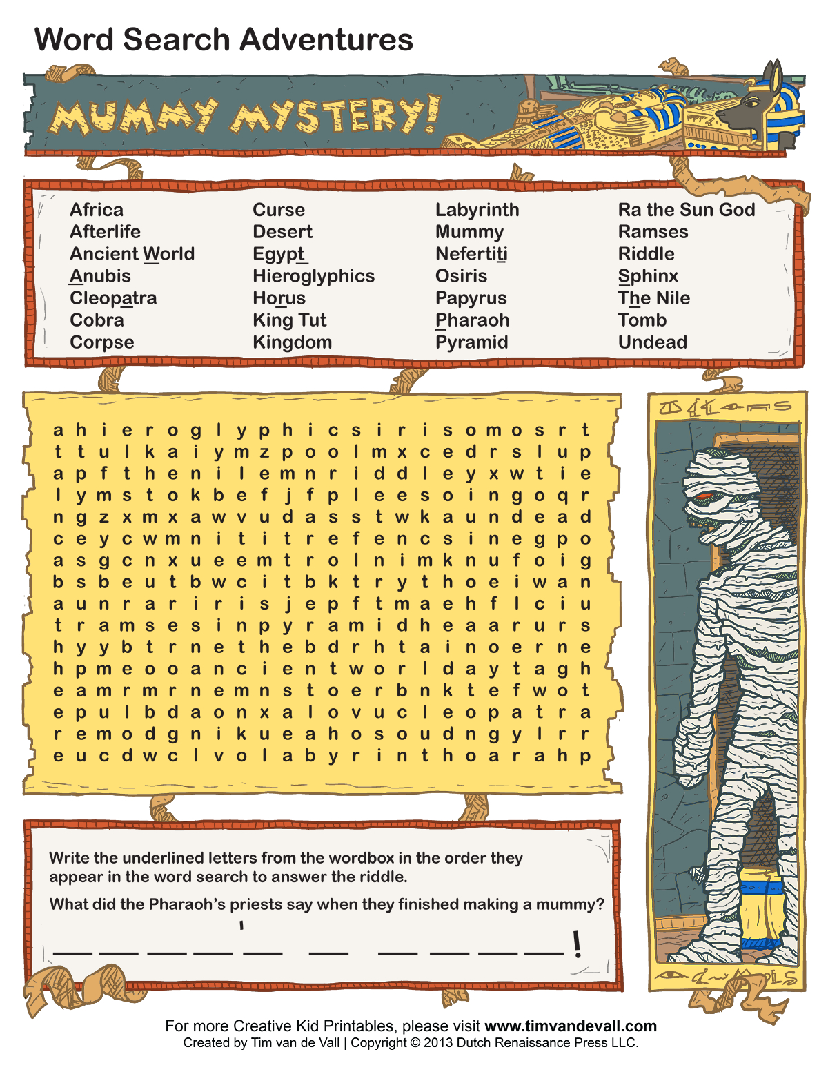 Free Printable Word Searches For Kids | Adventure Theme Games For - Printable Lexicon Puzzles