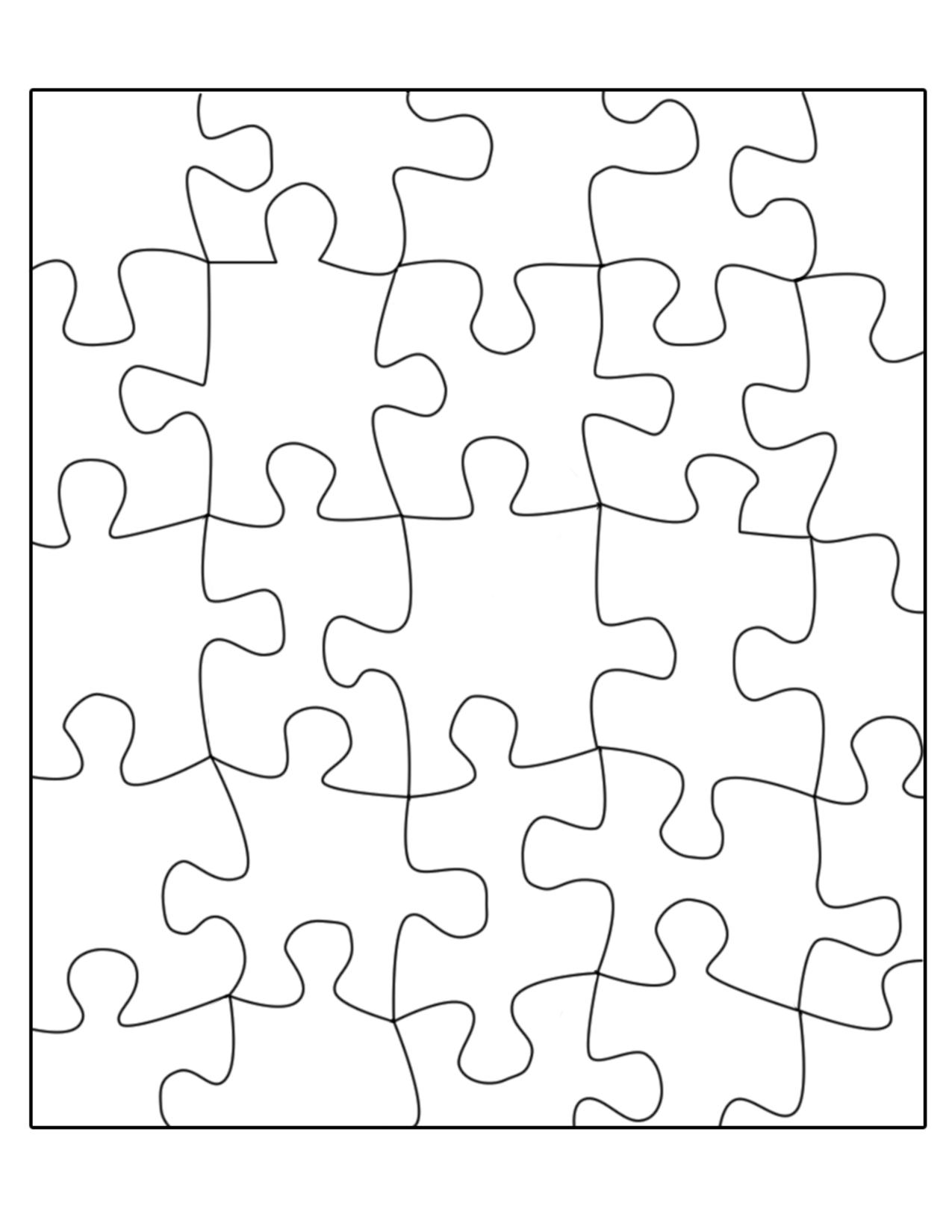 Free Puzzle Template, Download Free Clip Art, Free Clip Art On - Printable Puzzles Template