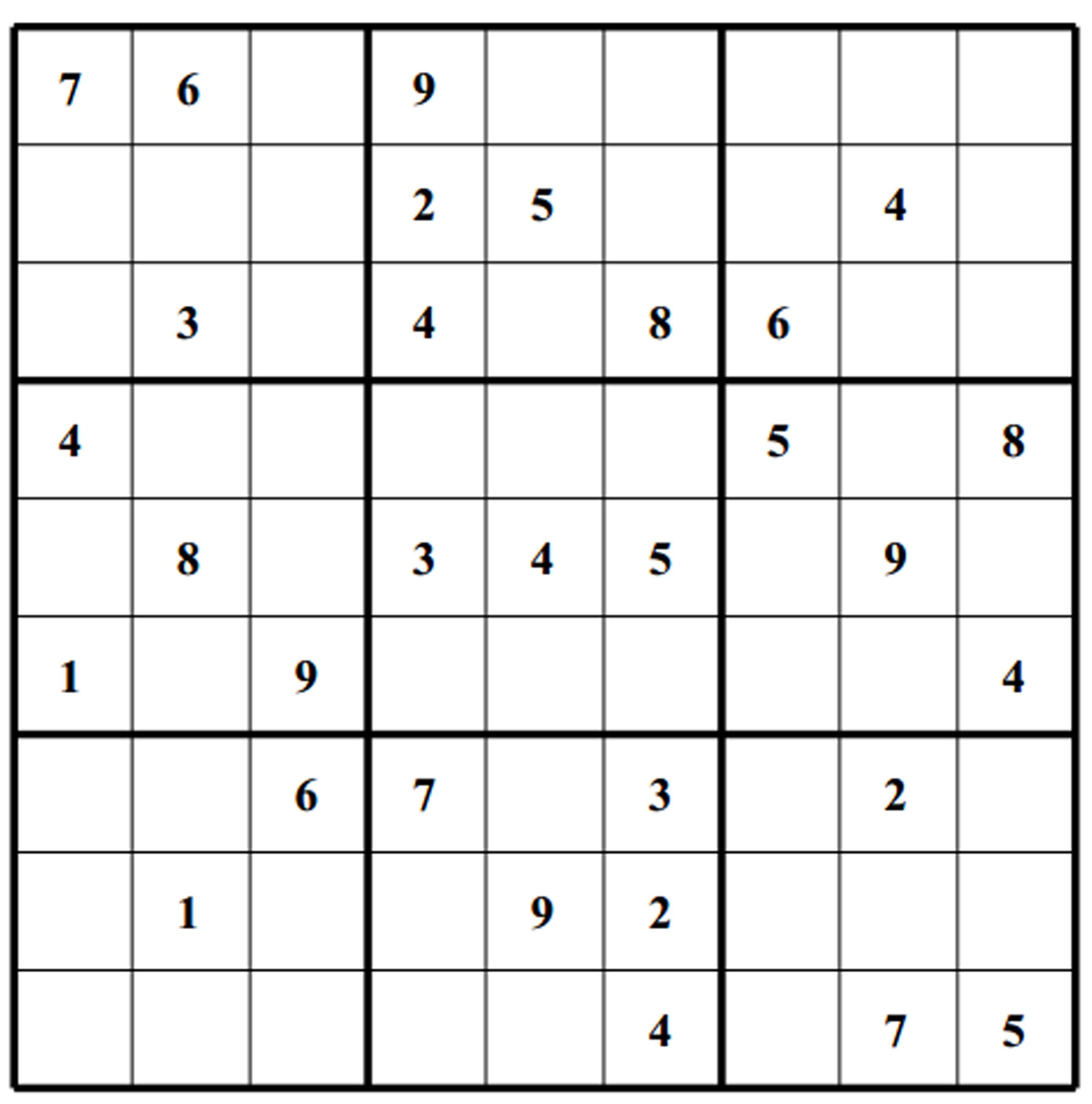 Free Sudoku Puzzles | Enjoy Daily Free Sudoku Puzzles From Walapie - 5 Star Sudoku Puzzles Printable