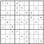 Free Sudoku Puzzles | Enjoy Daily Free Sudoku Puzzles From Walapie   Printable Sudoku Puzzles 1 Per Page