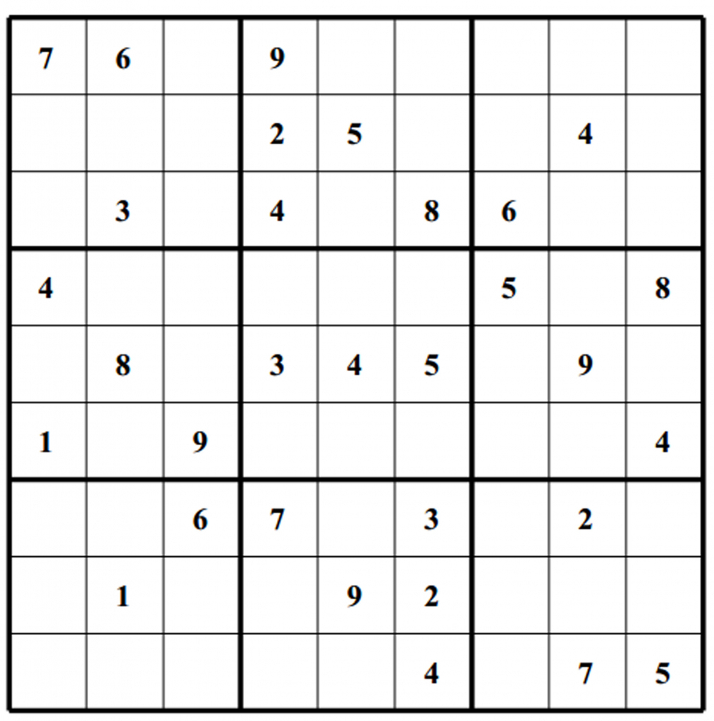 Free Sudoku Puzzles | Enjoy Daily Free Sudoku Puzzles From Walapie - Printable Sudoku Puzzles 1 Per Page