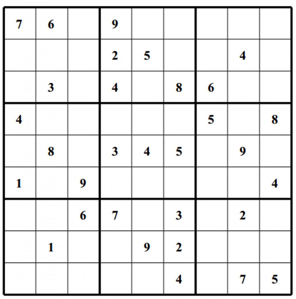 Free Sudoku Puzzles | Enjoy Daily Free Sudoku Puzzles From Walapie - Printable Sudoku Puzzles One Per Page