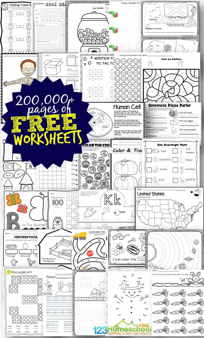 Free Worksheets - 200,000+ For Prek-6Th | 123 Homeschool 4 Me - Printable Puzzles For 5-7 Year Olds