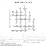 French And Indian War Crossword   Wordmint   Crossword Puzzles In French Printable