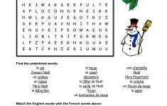 French Christmas Word Search   Google Search | French   Christmas   Printable French Puzzle