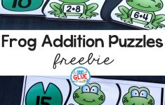 Frog Addition Puzzles     Printable Frog Puzzle