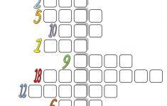 Fun With Numbers (Crossword) Worksheet   Free Esl Printable   Printable Crossword Esl