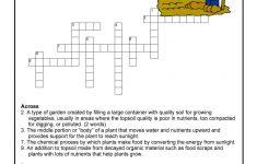 Garden Curriculum Crossword Printable | Woo! Jr. Kids Activities   Printable Garden Crosswords