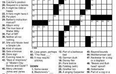 General Knowledge Easy Crossword Puzzles | Penaime   Free Printable   Medium Difficulty Printable Crossword Puzzles
