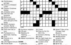 General Knowledge Easy Printable Crossword Puzzles | Penaime   Free   Printable Cartoon Crossword Puzzles