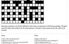 Genius Crossword No 142 | Crosswords | The Guardian   Guardian Printable Quick Crossword