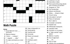 Geometry Puzzles Math – Upskill.club   Printable Crossword Puzzle For Middle School