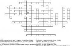 Geometry Vocabulary Crossword   Wordmint   Printable Vocabulary Crossword Puzzles