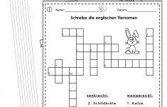 German/english Crossword Puzzles Tiere/animals   German Words   Printable German Crosswords