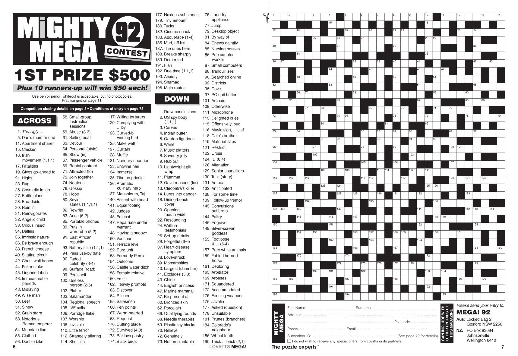 Giant Crossword Puzzle Printable 102 - Printable Pages - Giant Crossword Puzzle Printable