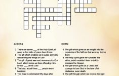 Gifts Of The Holy Spirit Crossword   | Printable Activities For Kids   Printable Holy Week Crossword Puzzle