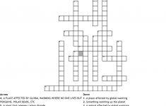 Global Warming Crossword   Wordmint   Global Warming Crossword Puzzle Printable