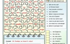 Good At Jigsaw Puzzles   To Be And To Have Worksheet   Free Esl   Printable Jigsaw Puzzles For Middle School