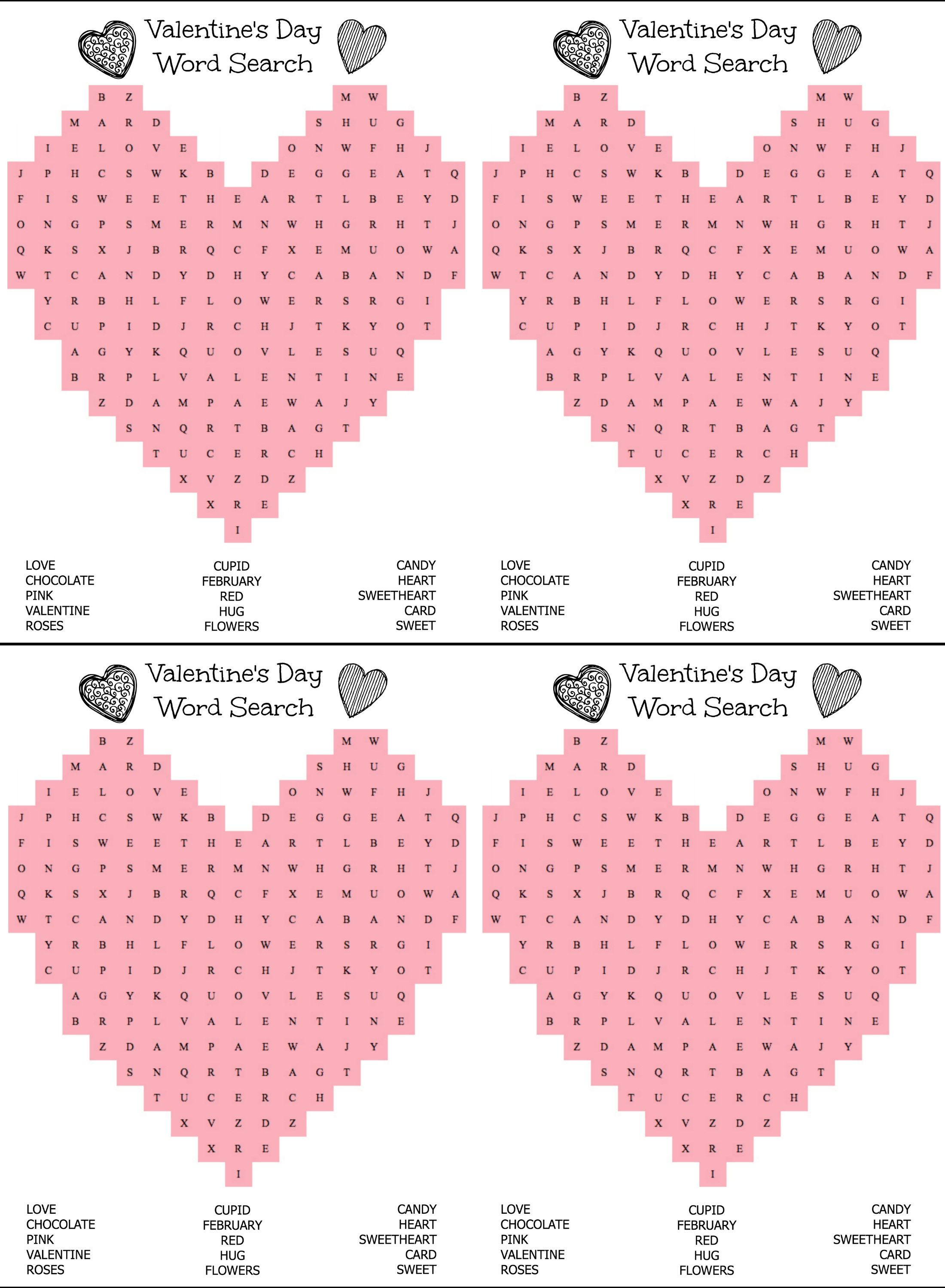 Great Day Word Search Printable | Educative Puzzle For Kids - Printable Heart Puzzles