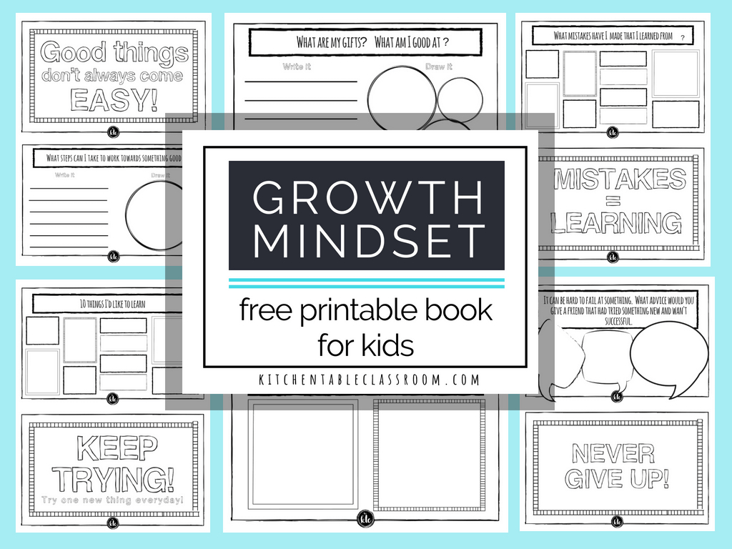 Growth Mindset For Kids Printable Book- Growth Mindset Activities - Printable Buzzword Puzzles