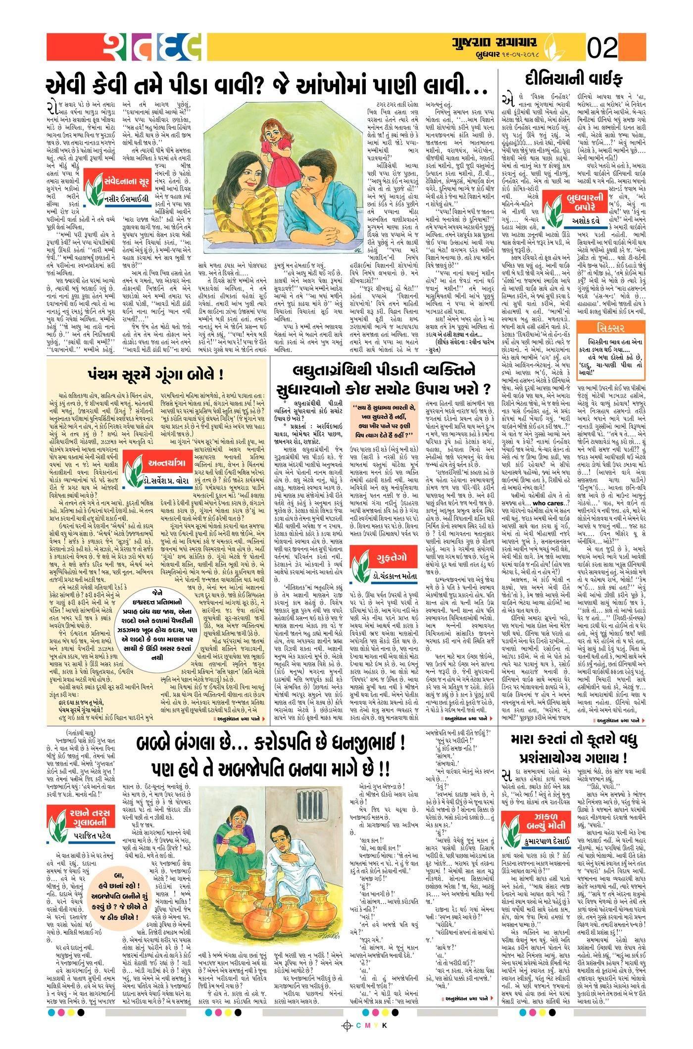 Gujarat Samachar Epaper Shatdal Edition   Icse   Bullet Journal - Printable Gujarati Crossword Puzzles