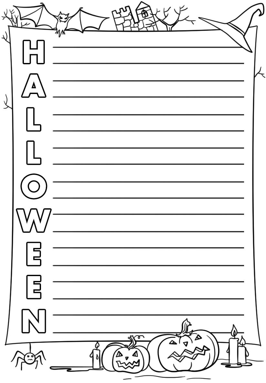 Halloween Acrostic Poem Template | Free Printable Papercraft Templates - Printable Acrostic Puzzle