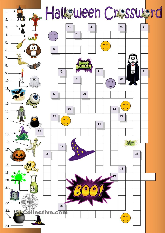 Halloween Crossword For Beginners | Esl Worksheets Of The Day - Printable Halloween Crossword