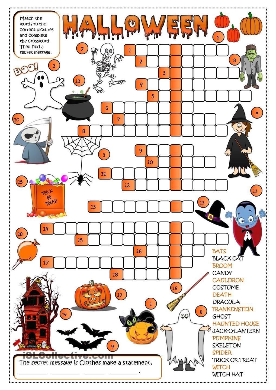 Halloween - Crossword …   Halloween Activities   Hallo… - Halloween Crossword Puzzle Printable