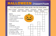 Halloween Crossword Puzzle #3   Fall Fun   Halloween Crossword   Halloween Crossword Puzzle Printable 3Rd Grade