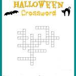 Halloween Crossword Puzzle Free Printable   Printable Crossword Puzzles Halloween