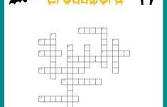 Halloween Crossword Puzzle Free Printable   Printable Halloween Crossword Puzzles Word Searches