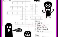 Halloween Crossword & Puzzles For Kids | ~All Hallows Eve   Printable Crossword Puzzles Halloween