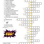 Halloween Crossword Worksheet   Free Esl Printable Worksheets Made   Printable Crossword Puzzles Halloween