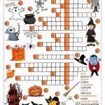 Halloween   Crossword Worksheet   Free Esl Printable Worksheets Made   Printable Halloween Puzzle Pages