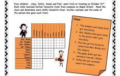 Halloween Logic Puzzle Worksheet   Free Esl Printable Worksheets   Printable Halloween Puzzle