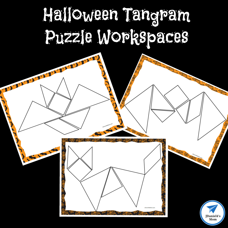 Halloween Themed Printable Tangram Puzzles - Jdaniel4S Mom - Printable Tangram Puzzles