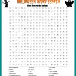 Halloween Word Search Printable Worksheet   Printable Halloween Puzzles For Middle School