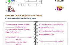 Happy Birthday Worksheet   Free Esl Printable Worksheets Made   Printable Birthday Puzzle