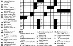 Hard Crossword Puzzles Printable And 8 Best Of Printable Difficult   Difficult Crossword Puzzles Printable