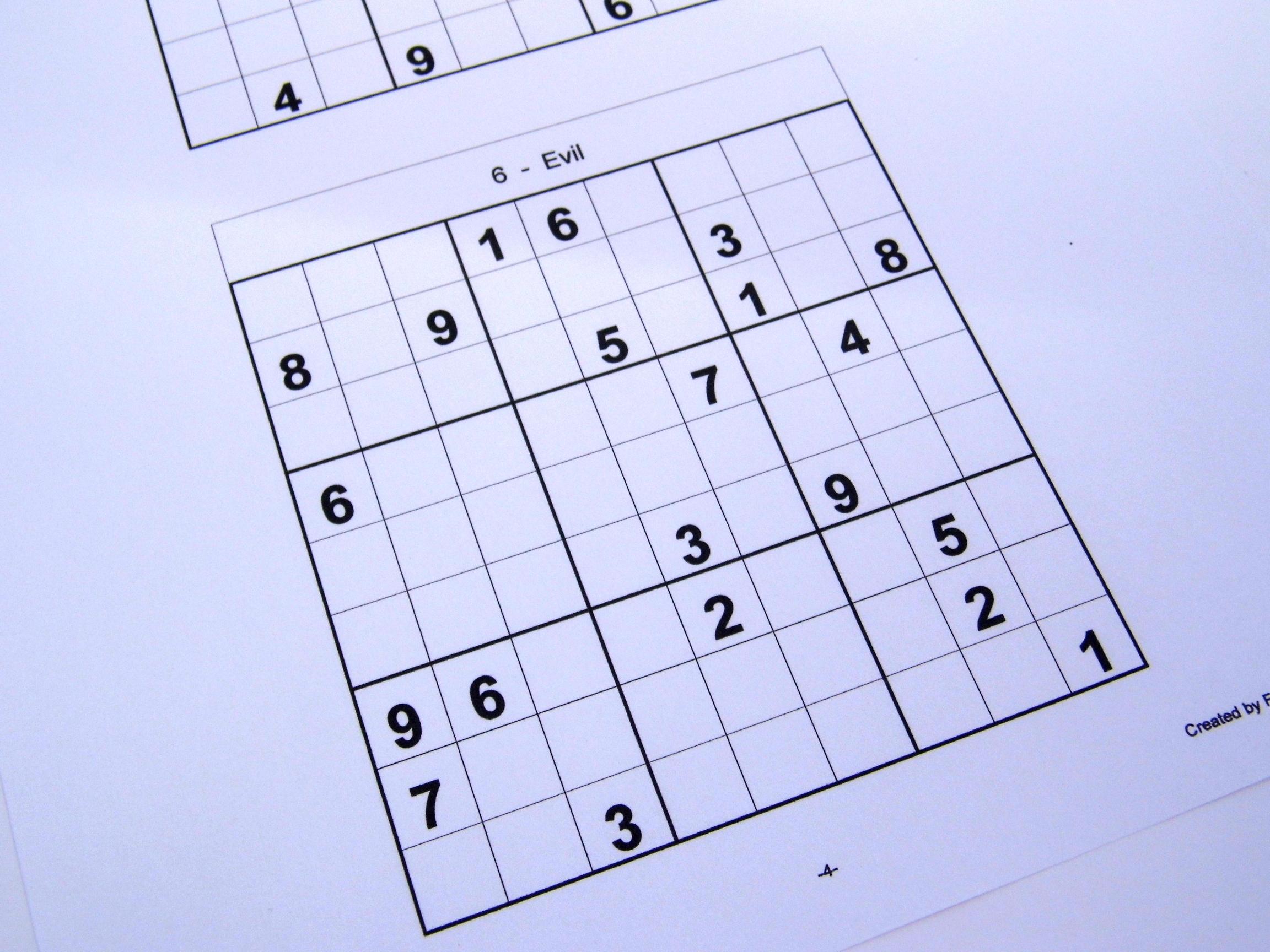 Hard Printable Sudoku Puzzles 6 Per Page – Book 1 – Free Sudoku Puzzles - Printable Sudoku Puzzles 6 Per Page