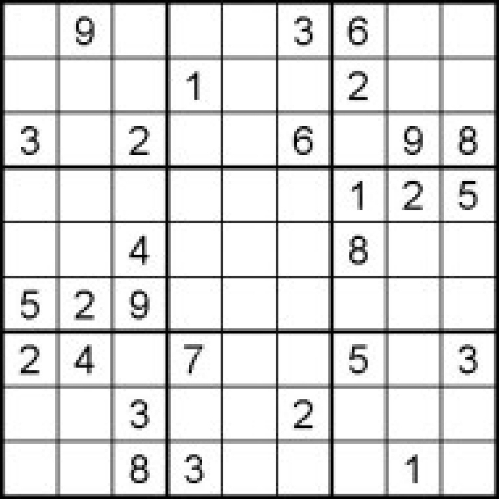 Hard Sudoku Puzzles For Kids - Free Printable Worksheets Pertaining - Printable Sudoku Puzzles Medium